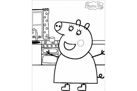 动漫人物简笔画 粉红猪小妹简笔画图片