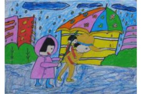 二年级学雷锋日绘画作品之学雷锋树新风