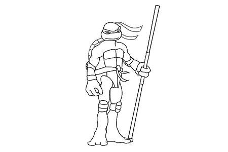 忍者神龟手握武士棒