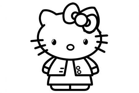 穿着马夹的kitty猫