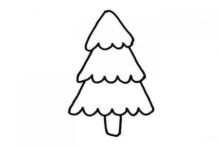 5张简单的圣诞树简笔画图片