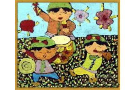 《庆国庆》儿童画画作品