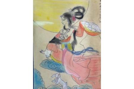 嫦娥奔月中秋节儿童画画大全