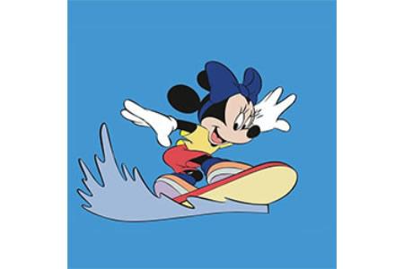 在冲浪的米老鼠