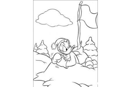 3张可爱的唐老鸭涂色画