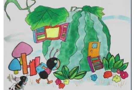 九九重阳节儿童画-忙碌的重阳节