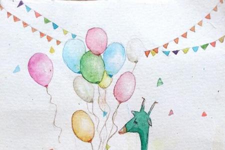六一儿童节动物画作品之森林欢乐会