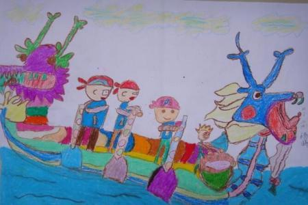少儿龙舟大赛幼儿园端午节主题画图片分享