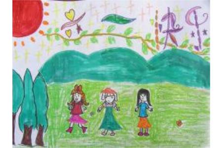 儿童节儿童画作品 六一游玩