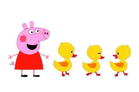 粉红小猪之小猪佩奇数鸭子