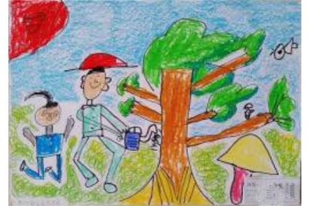 有意义的一天儿童植树节画图片欣赏