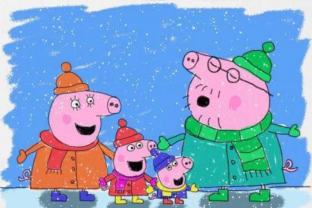 小猪佩奇之下雪了