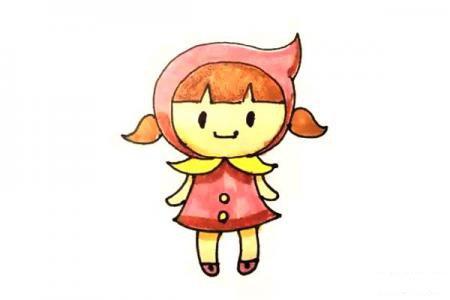 可爱的小红帽简笔画