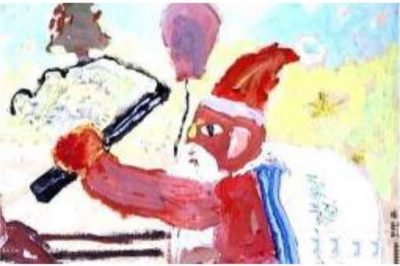 儿童版画 驾雪橇的圣诞老人