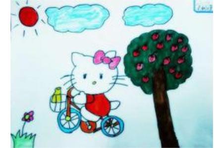 儿童漫画 kitty猫去郊游