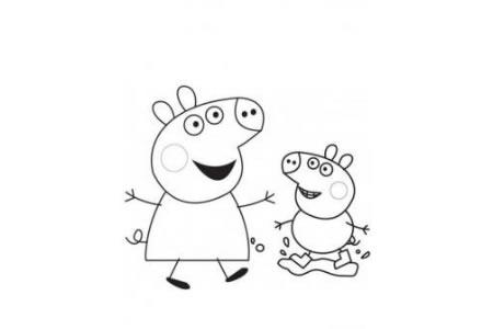 卡通人物简笔画 粉红猪小妹简笔画图片