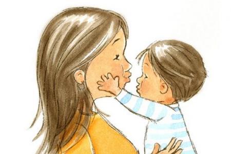 献给妈妈的吻优秀的母亲节水彩画作品展示