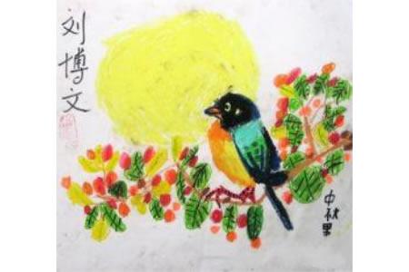 中秋节主题儿童画-中秋果园香