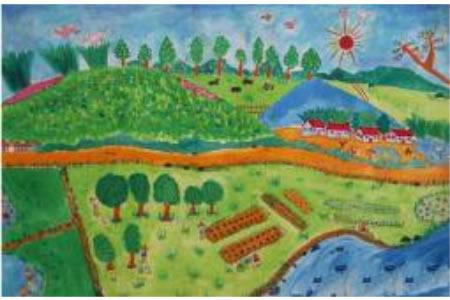希望的田野画一幅植树节的画