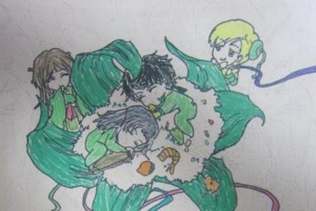 大家都爱吃粽子快乐端午节绘画作品欣赏