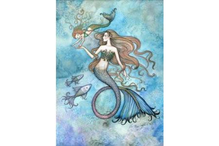 美人鱼绘画 优秀国外水彩画作品欣赏