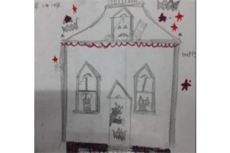 万圣节主题儿童画-恶作剧的万圣节