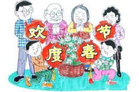 小学生春节的绘画作品