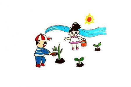 植树节简笔画怎么画