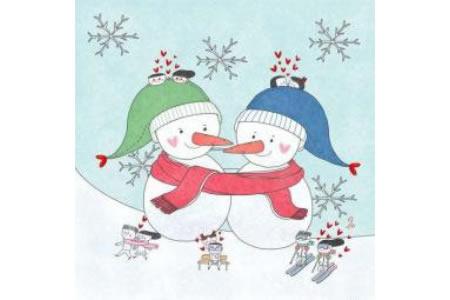 雪人儿童插画图片素材