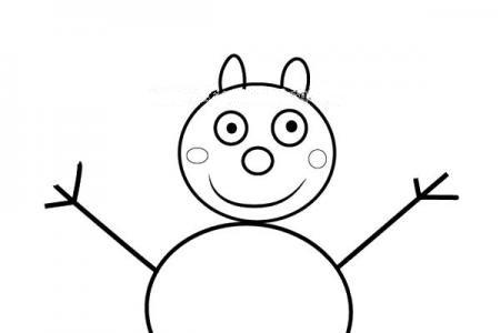 小猪佩奇之绵羊斯宾塞简笔画