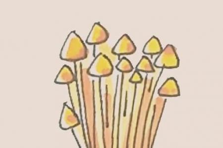 简笔画之金针菇