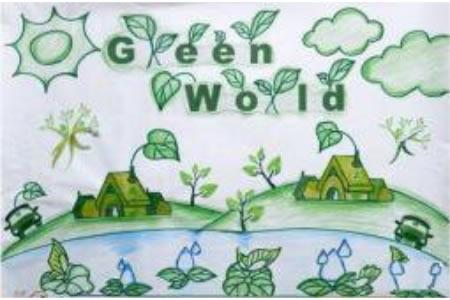 绿世界四年级植树节优秀作品赏析