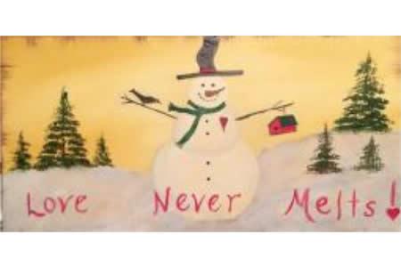 雪中融化的爱国外冬天水彩画在线看
