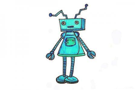 长方形和三角形画机器人,呆萌又可爱!
