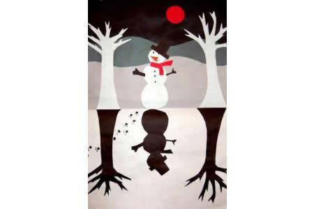 雪人和他的倒影国外绘画作品在线看