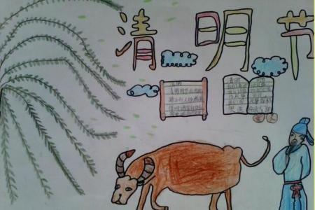 古诗配画清明节儿童简单画作品分享