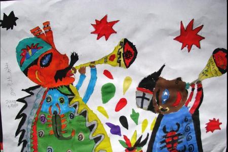 老年乐队在表演图片,重阳节题材儿童画