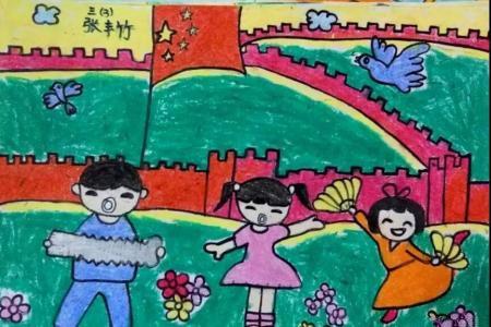 六一儿童节表演的画作品之欢歌与热舞