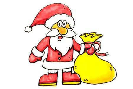 儿童轻松学画圣诞老人