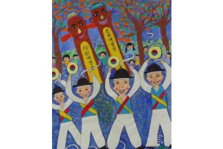 国外儿童画作品欣赏-丰年祭