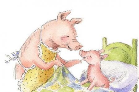 小猪妈妈和小猪关于母亲节美术作品分享