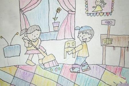 五一劳动节儿童图画-我们一起来行动