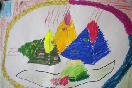 端午节儿童画图片-粽香龙情