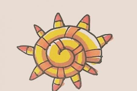 简笔画之海螺