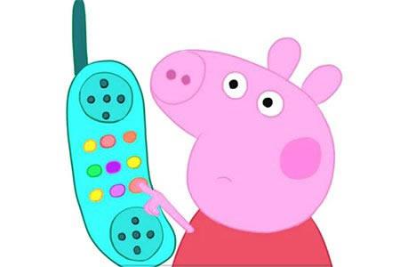 粉红小猪之小猪佩奇与电话