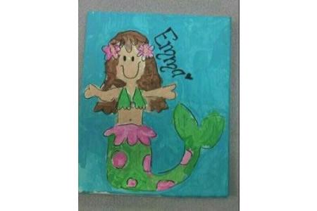小小美人鱼海底世界主题画图片欣赏