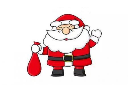 画开心的圣诞老人简笔画