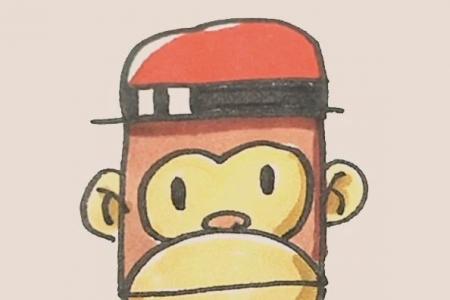 简笔画之猴子