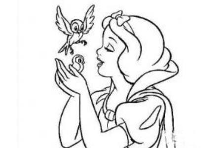 简笔画白雪公主怎么画 白雪公主图片简笔画