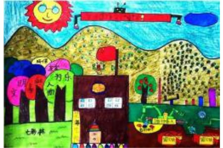 播种绿色的春天儿童画作品欣赏